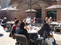 Crowd Enjoying Lunch on the Patio