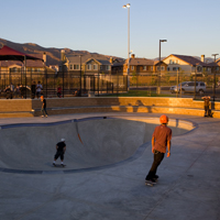 Kids Using the Skate and BMX Park