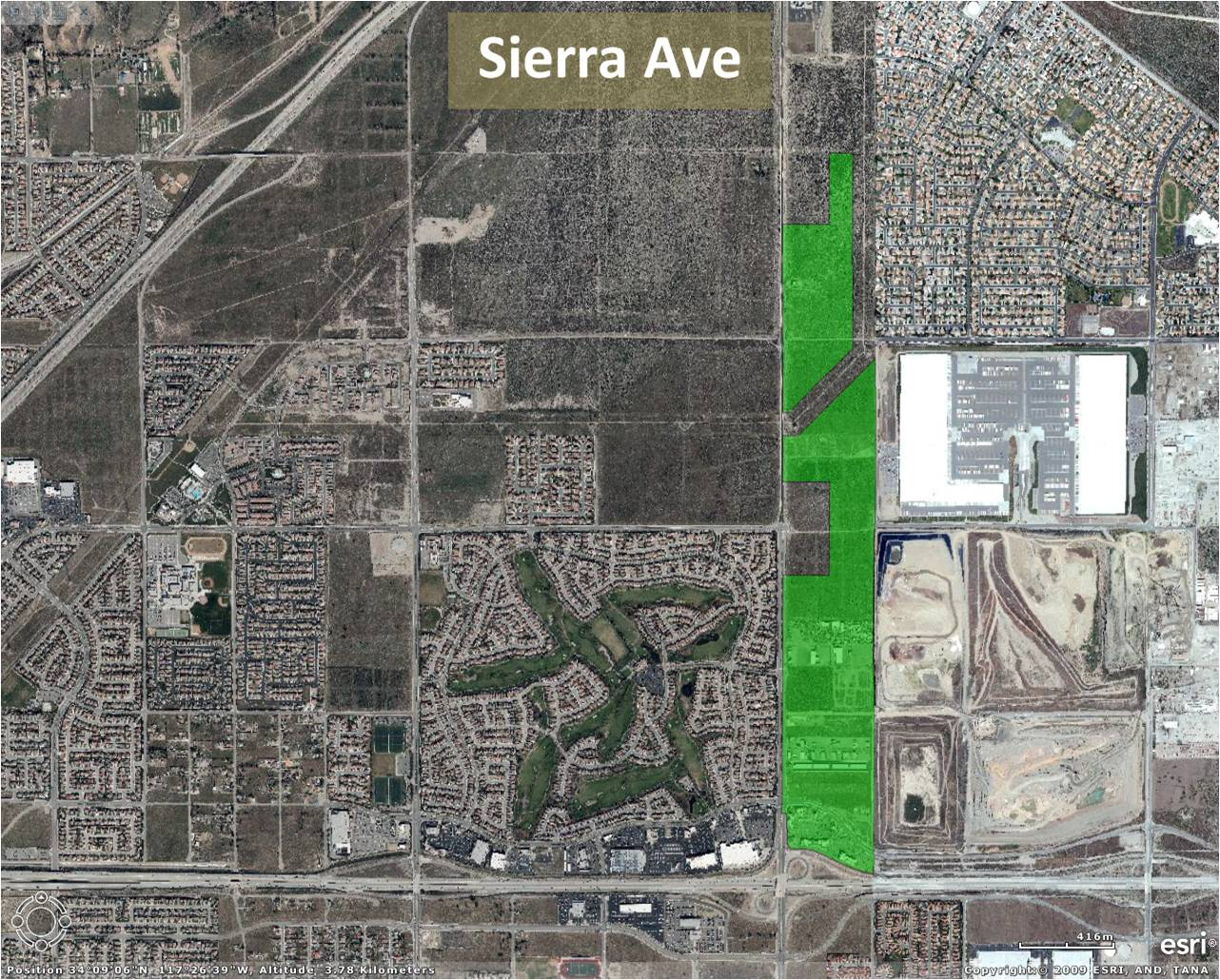 Sierra Avenue Project Map