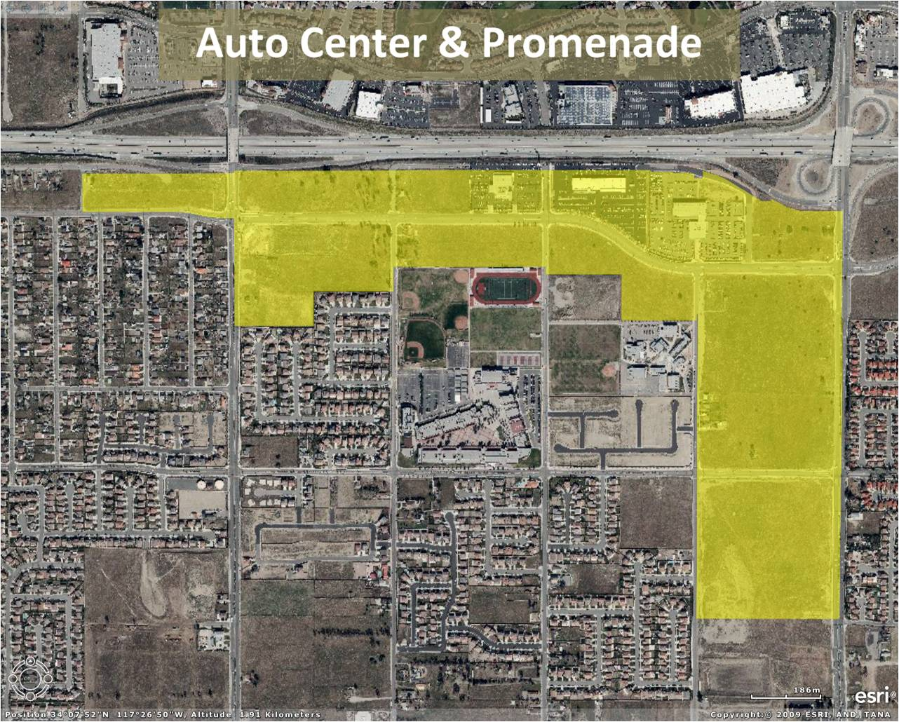 Auto Center and Promenade Project Map