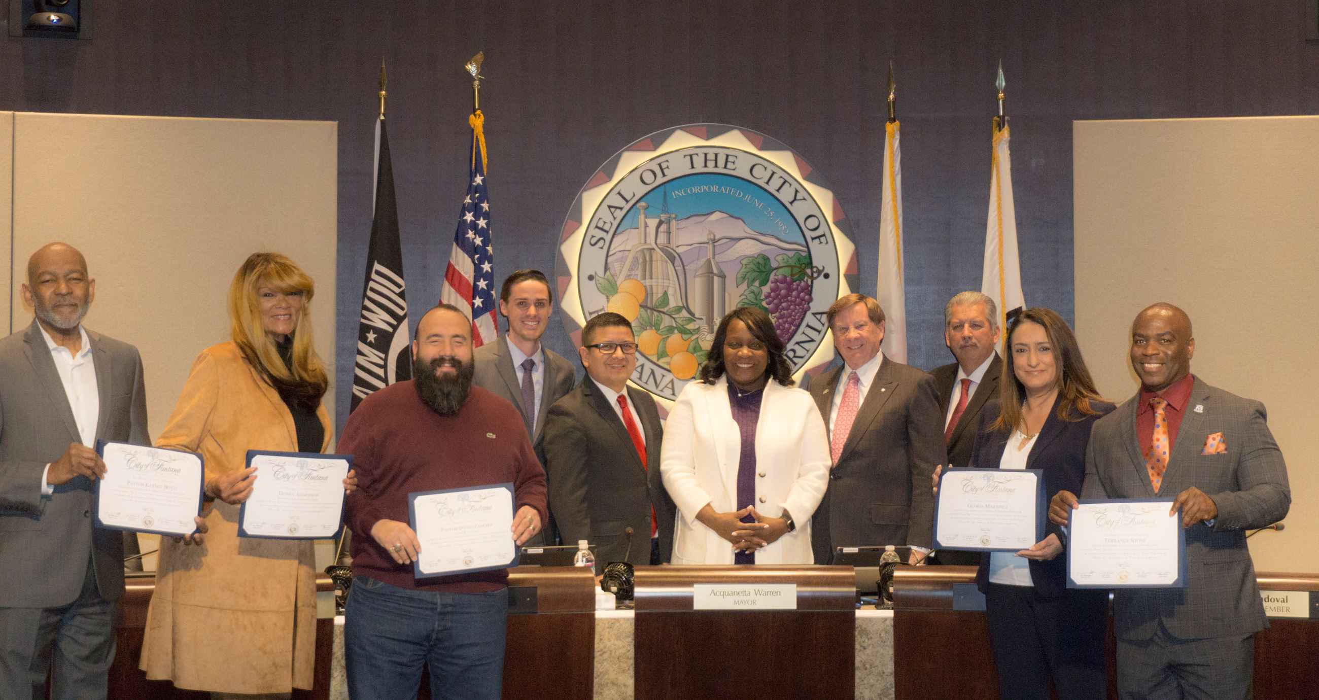 Special Recognition of OnTrac Employees and Community Members