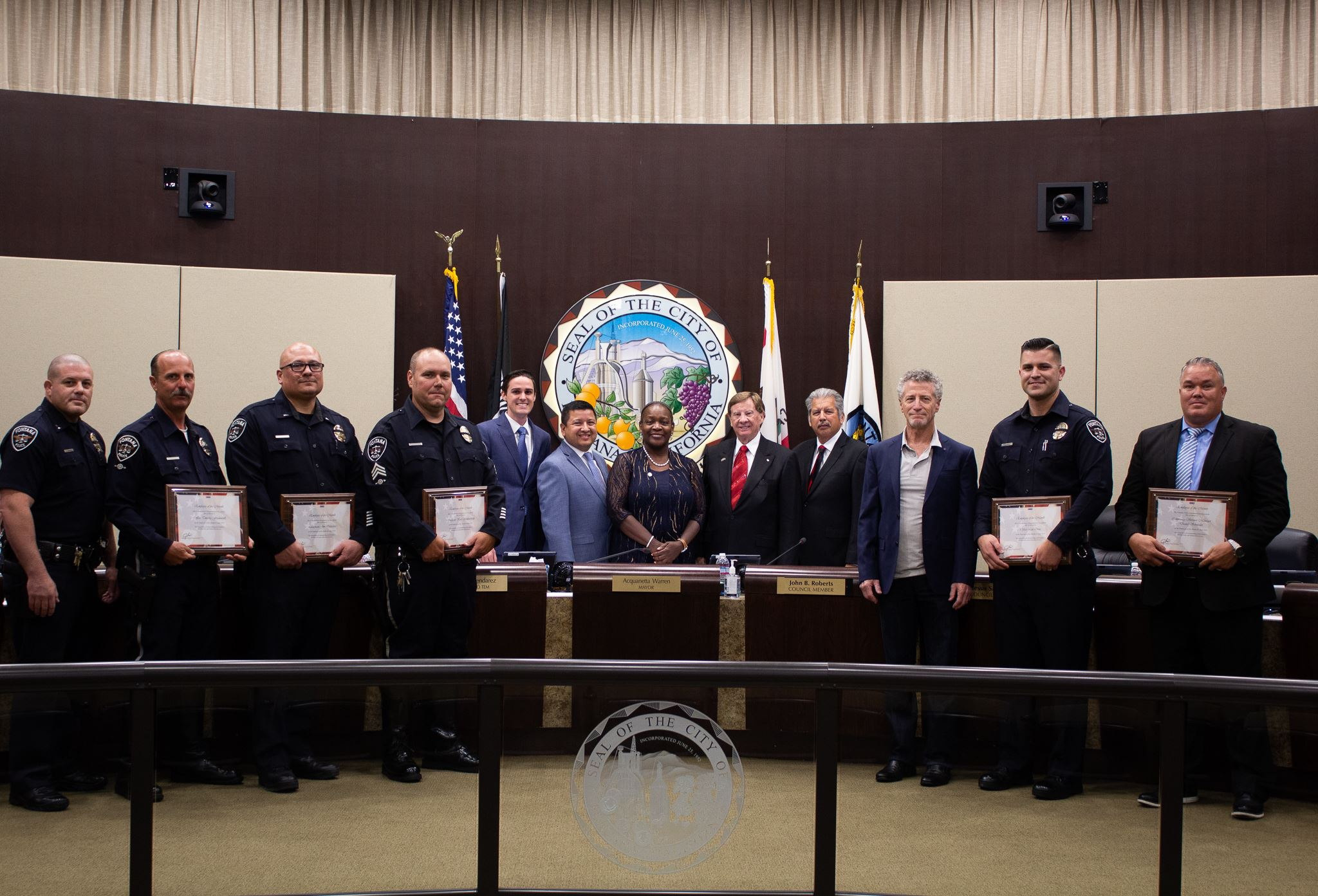 Fontana PD June Employees of the Month -Fontana Days Run Heroic Act