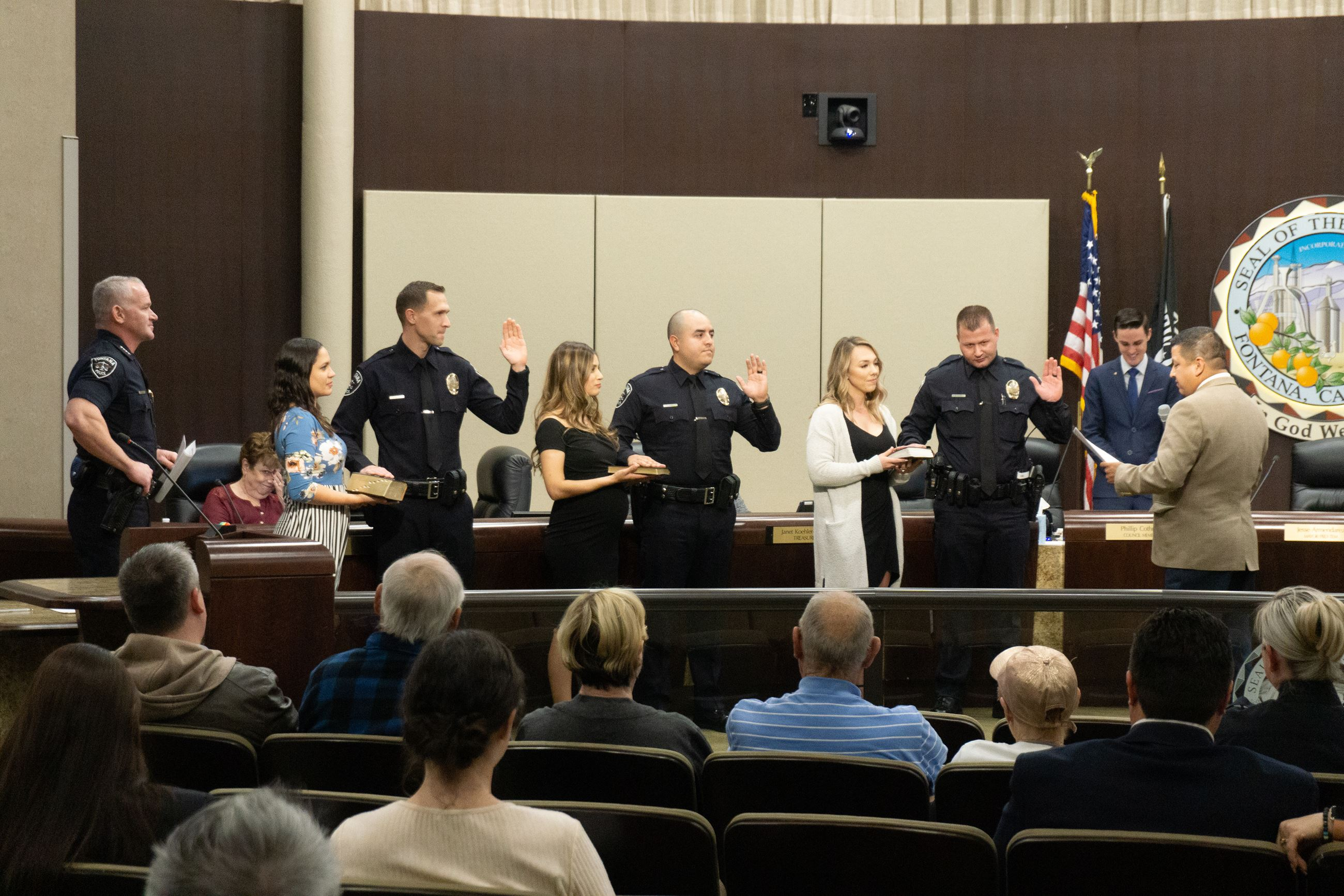 Police Department Swearing In Ceremony