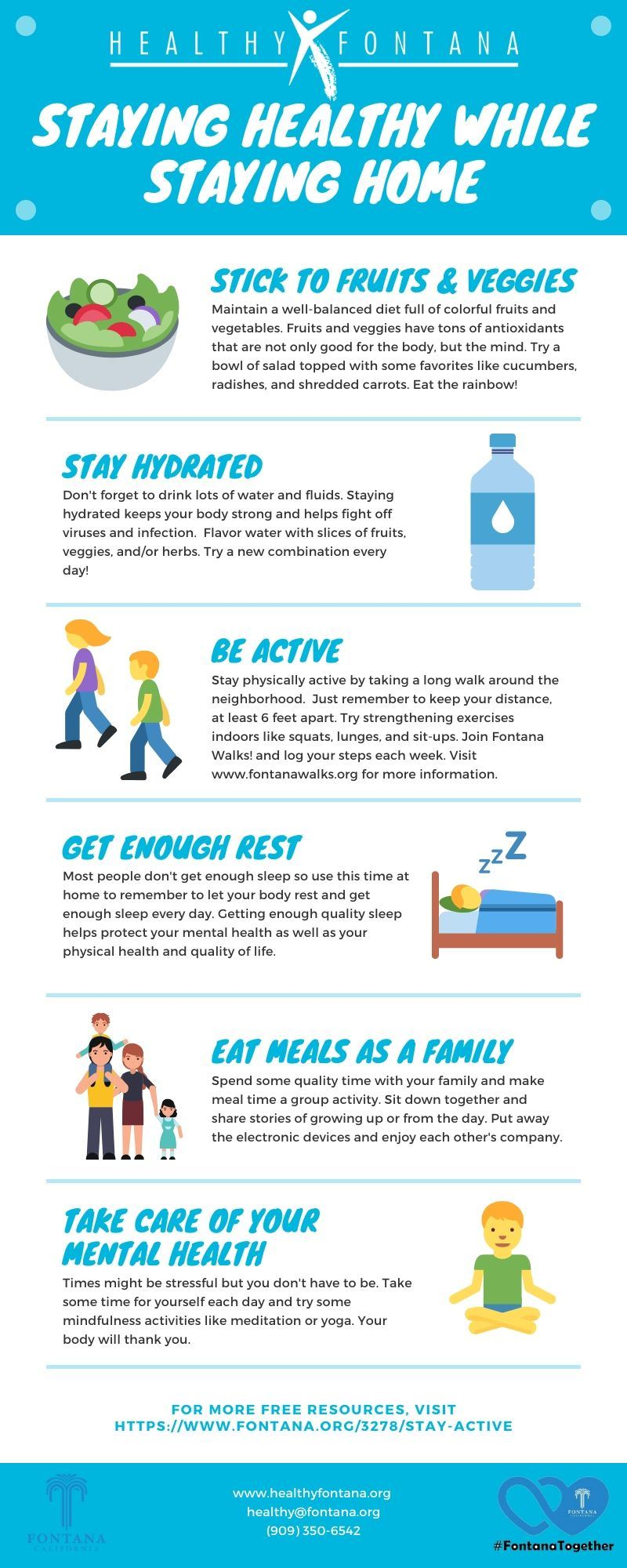 How to Stay Healthy Infographic
