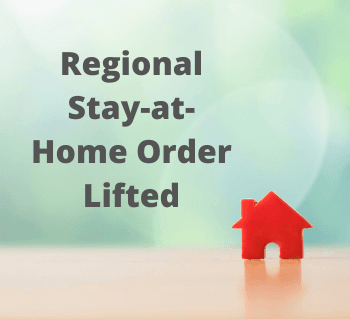 Regional Stay-at-Home Order Lifted