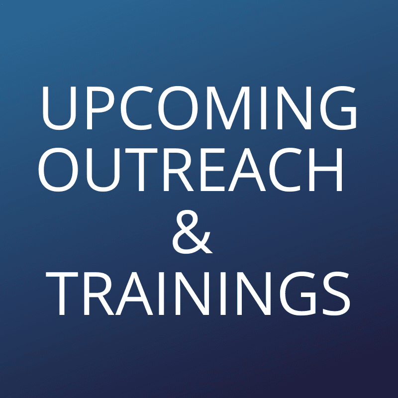 Upcoming Emergency Outreach and Training Opens in new window