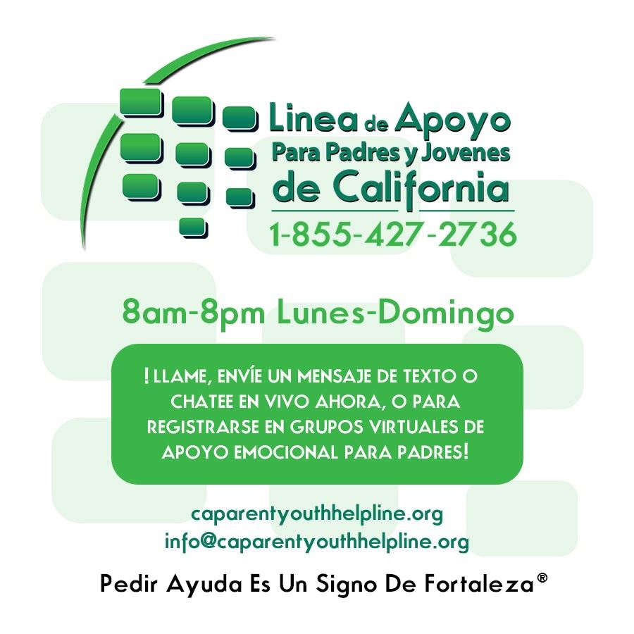 Parent and Youth Hotline - Spanish