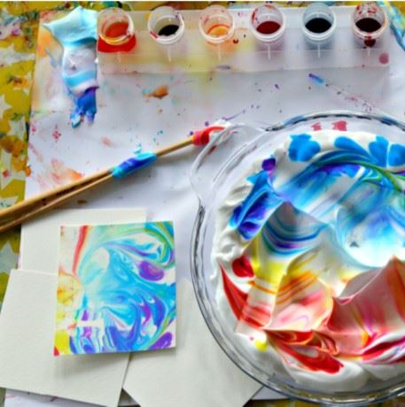 Marbled Art Activity