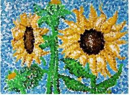 pointillism flower